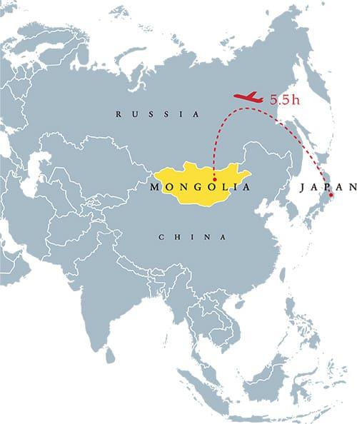 モンゴル国の地図